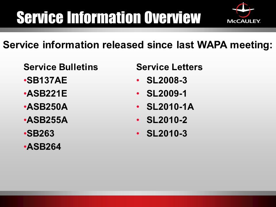 Service Information Overview