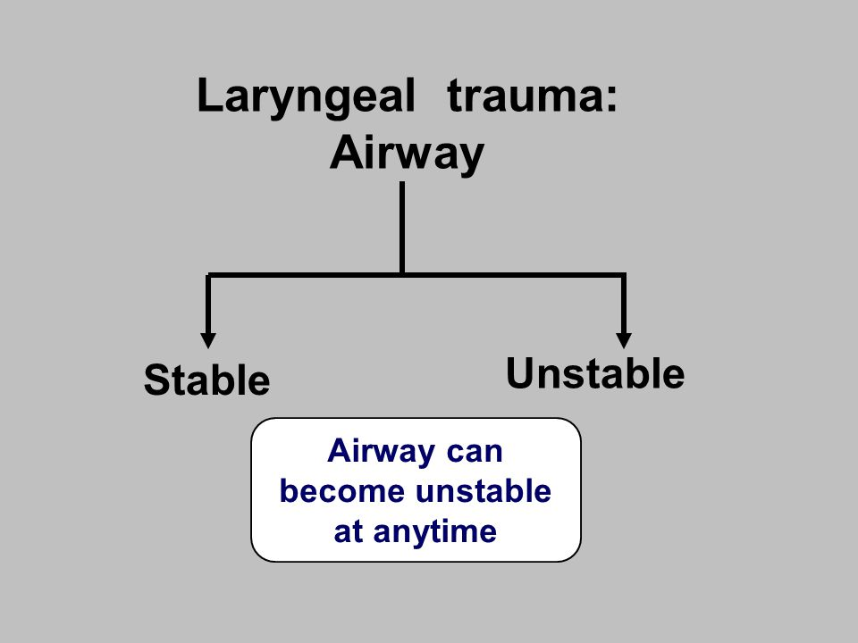 Airway can become unstable at anytime