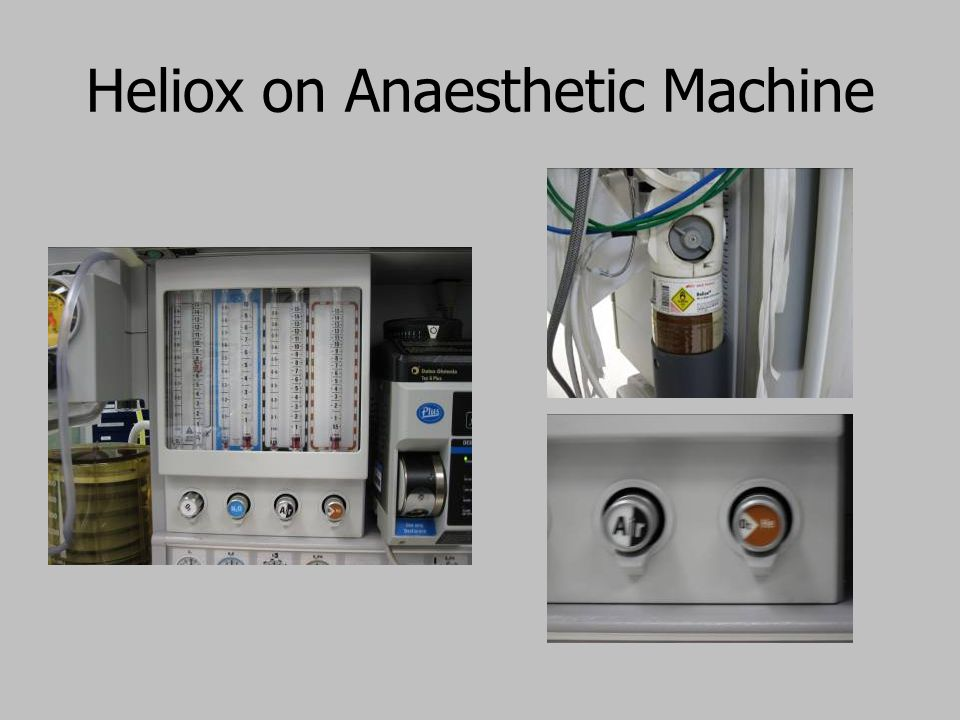 Heliox on Anaesthetic Machine