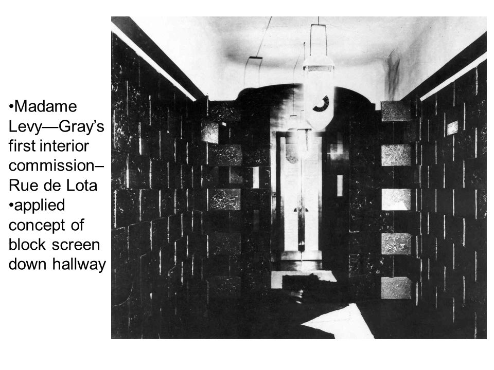 Madame Levy—Gray's first interior commission– Rue de Lota