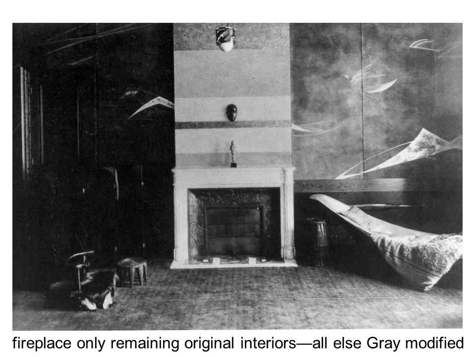 fireplace only remaining original interiors—all else Gray modified