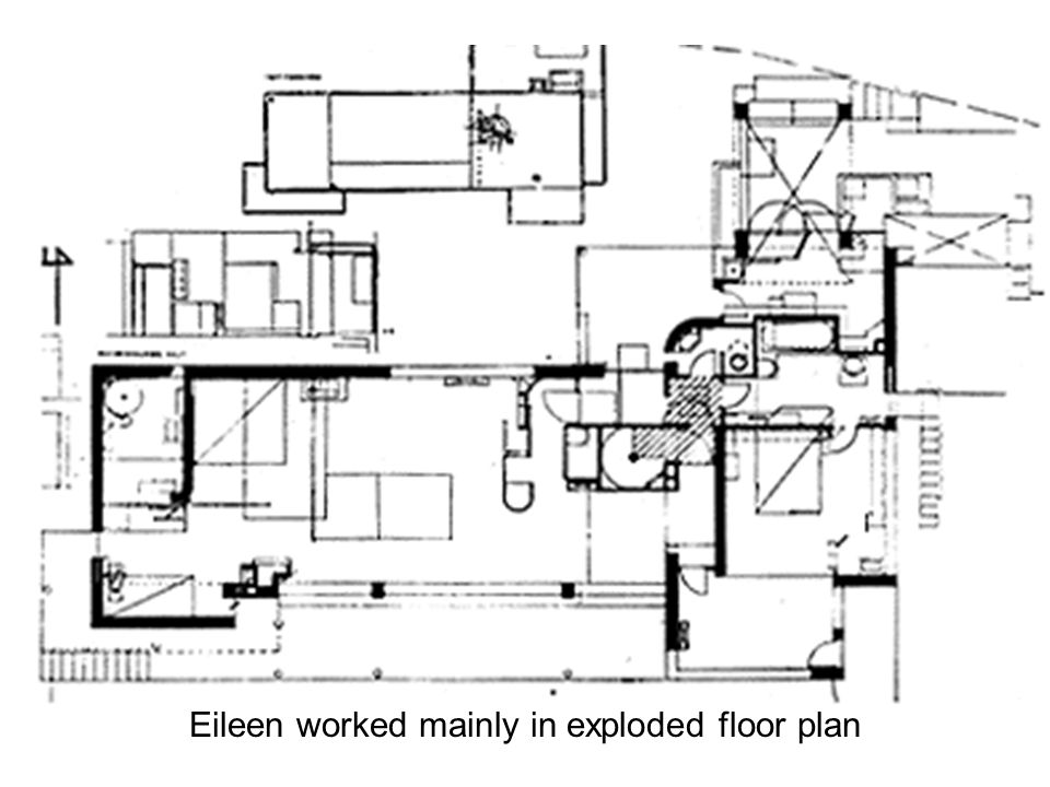 Eileen worked mainly in exploded floor plan