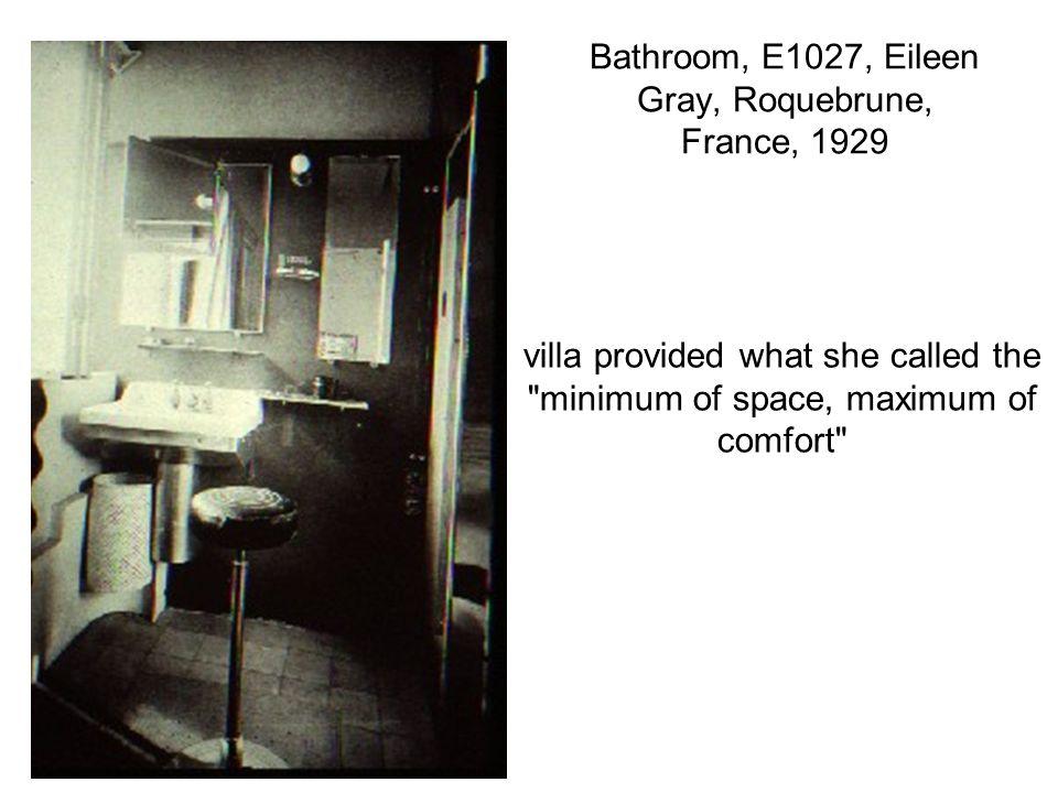 Bathroom, E1027, Eileen Gray, Roquebrune, France, 1929