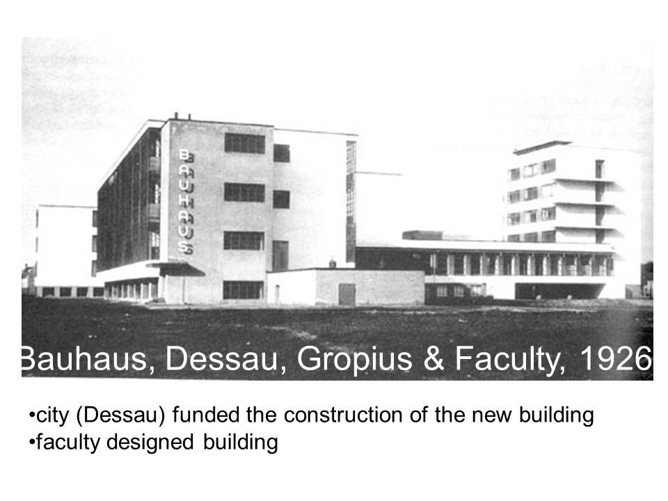 Bauhaus, Dessau, Gropius & Faculty, 1926