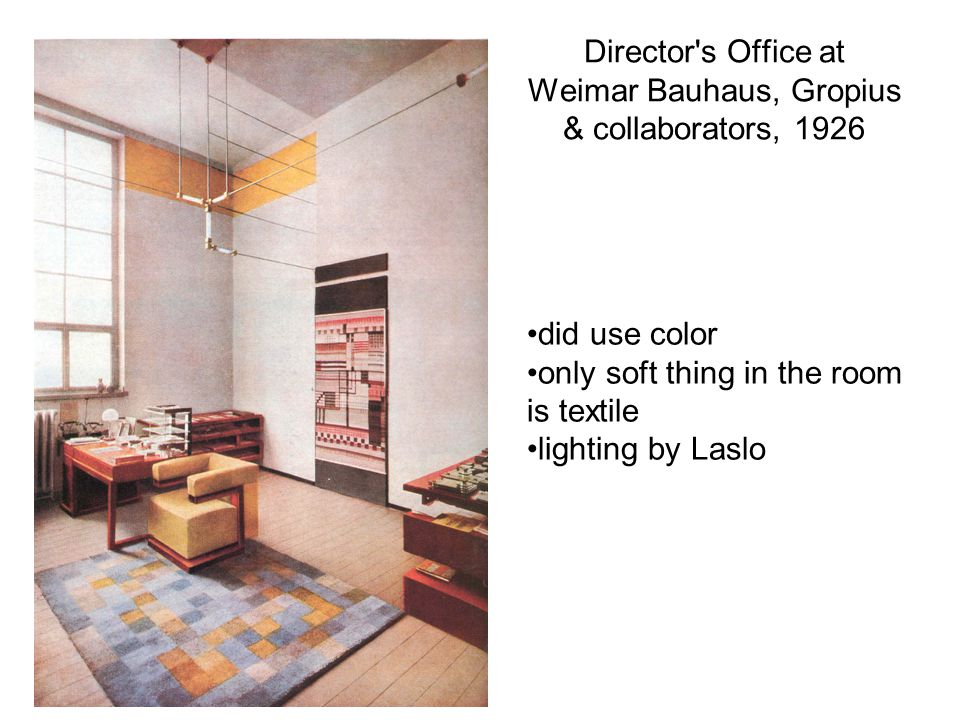 Director s Office at Weimar Bauhaus, Gropius & collaborators, 1926