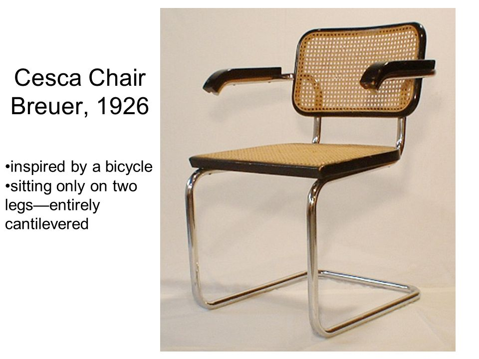 Cesca Chair Breuer, 1926 inspired by a bicycle