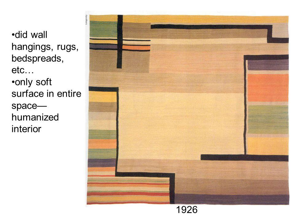did wall hangings, rugs, bedspreads, etc…