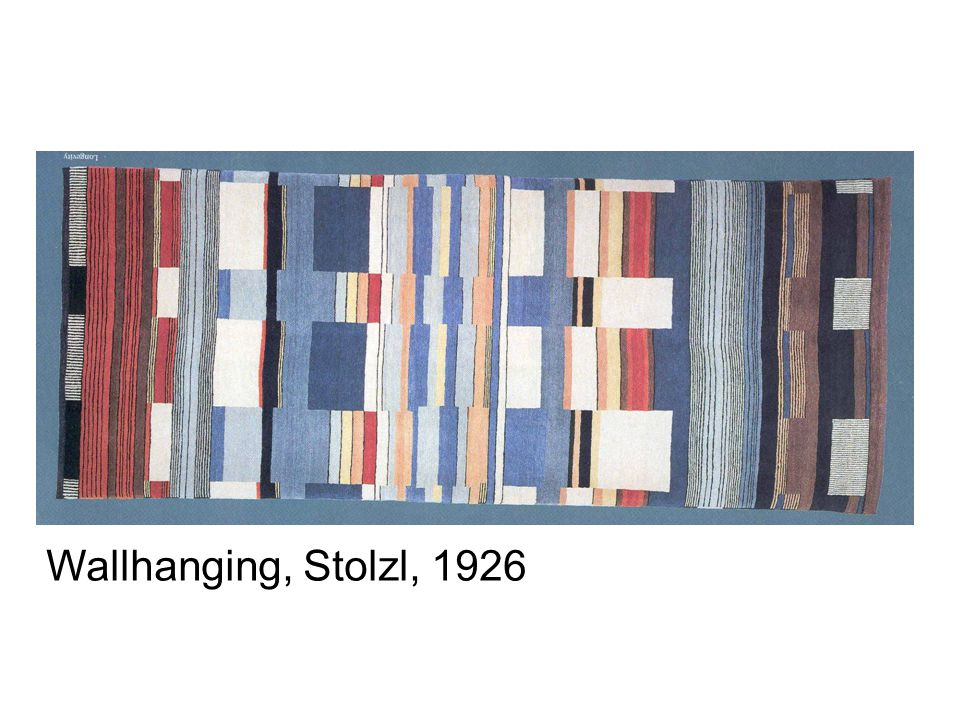 Wallhanging, Stolzl, 1926