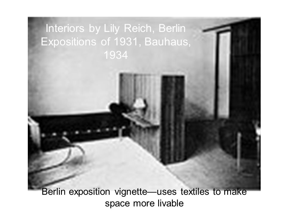 Interiors by Lily Reich, Berlin Expositions of 1931, Bauhaus, 1934