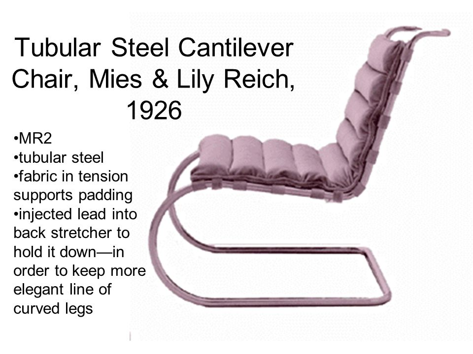 Tubular Steel Cantilever Chair, Mies & Lily Reich, 1926