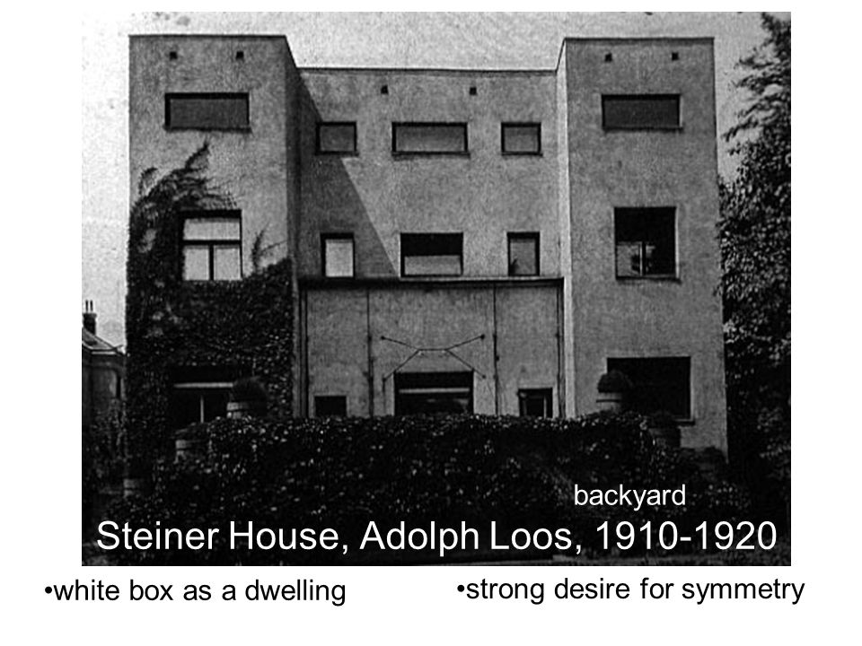 Steiner House, Adolph Loos, 1910-1920