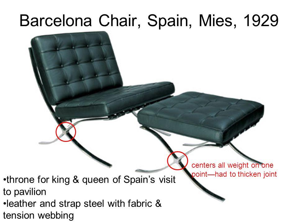 Barcelona Chair, Spain, Mies, 1929