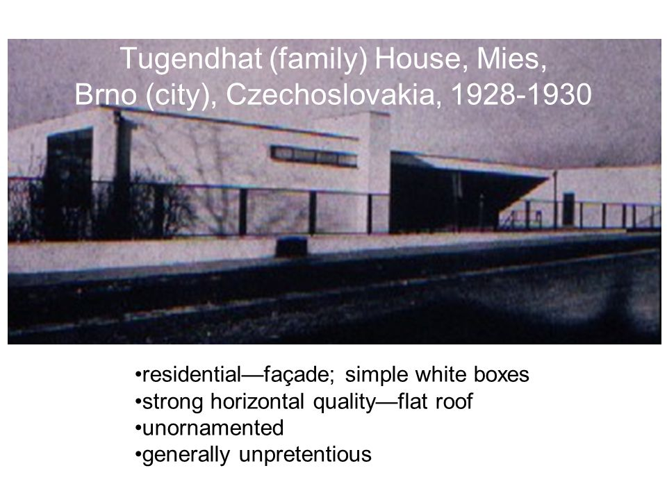 Tugendhat (family) House, Mies, Brno (city), Czechoslovakia, 1928-1930