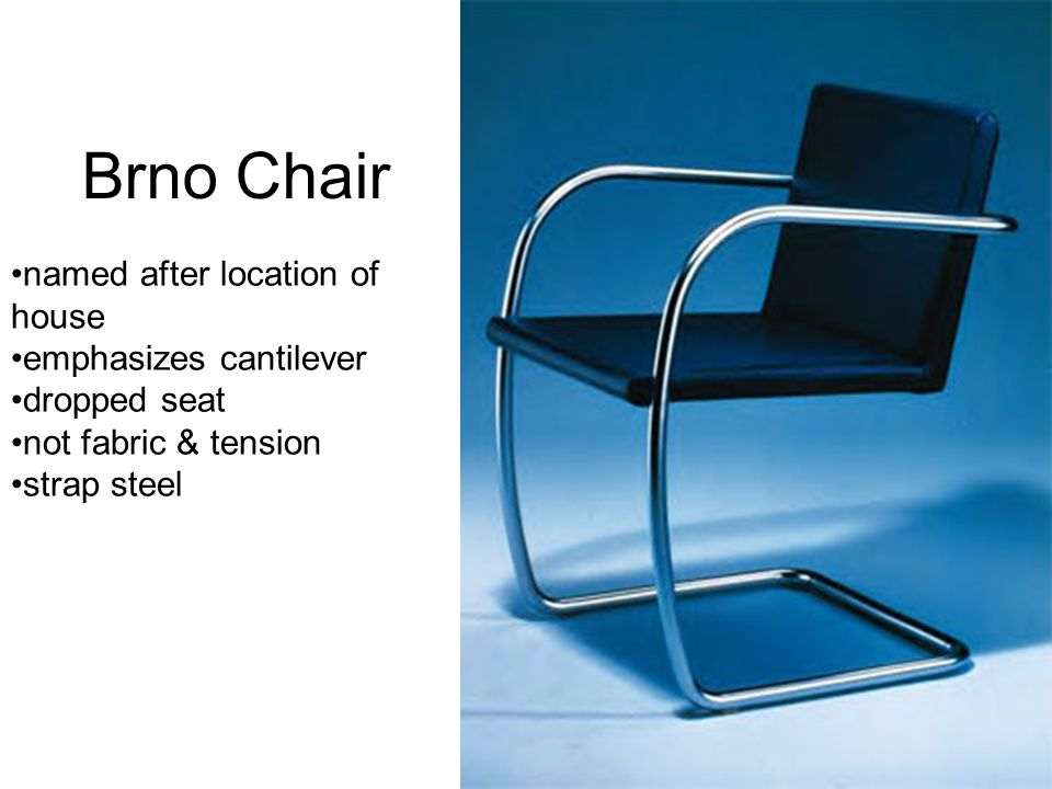 Brno Chair named after location of house emphasizes cantilever