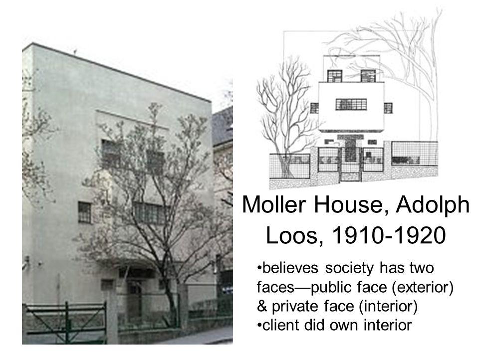 Moller House, Adolph Loos, 1910-1920