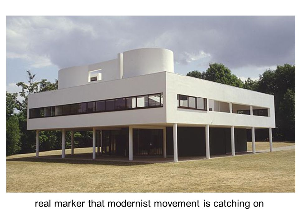 real marker that modernist movement is catching on