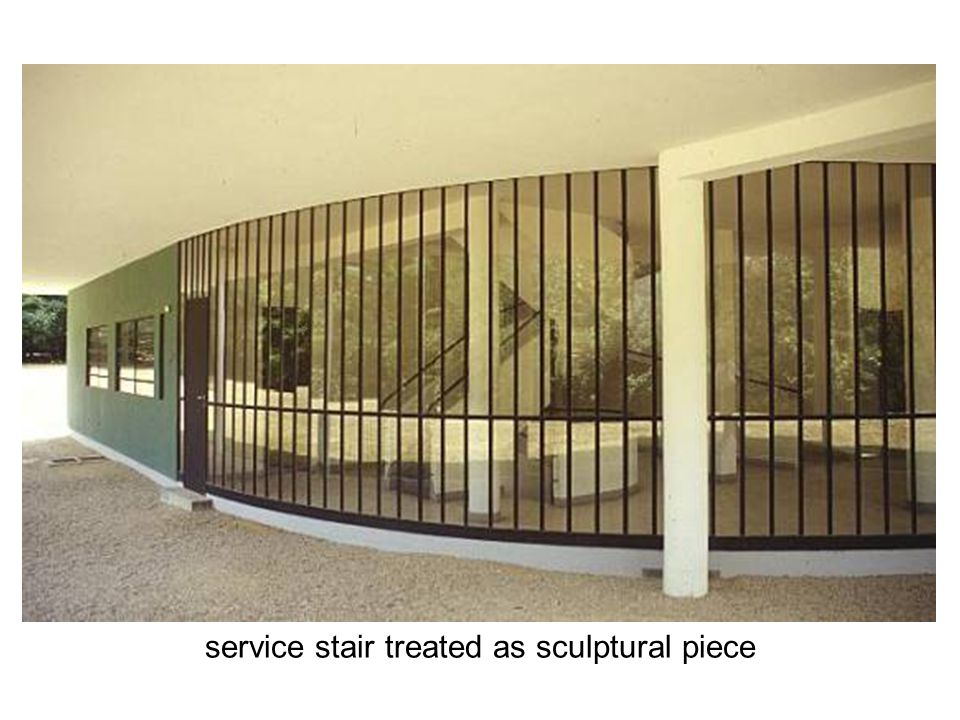 service stair treated as sculptural piece