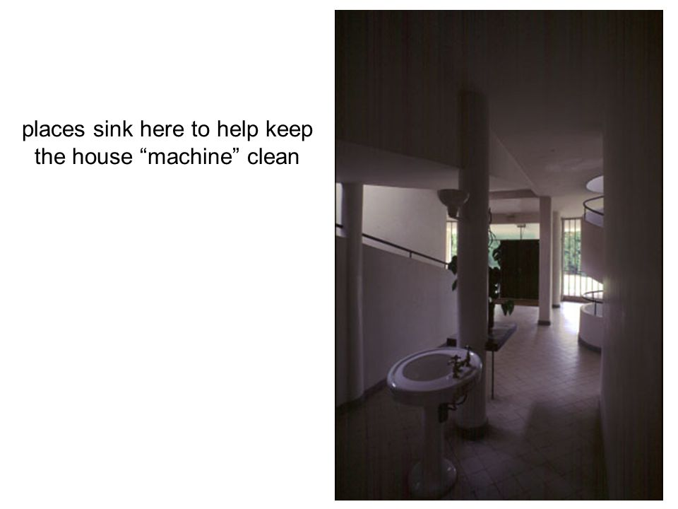 places sink here to help keep the house machine clean