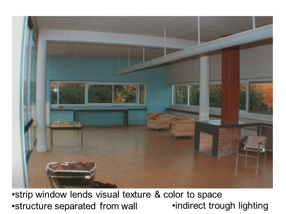 strip window lends visual texture & color to space