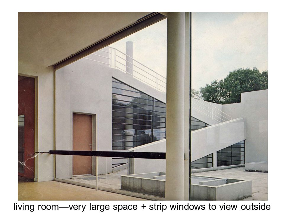 living room—very large space + strip windows to view outside