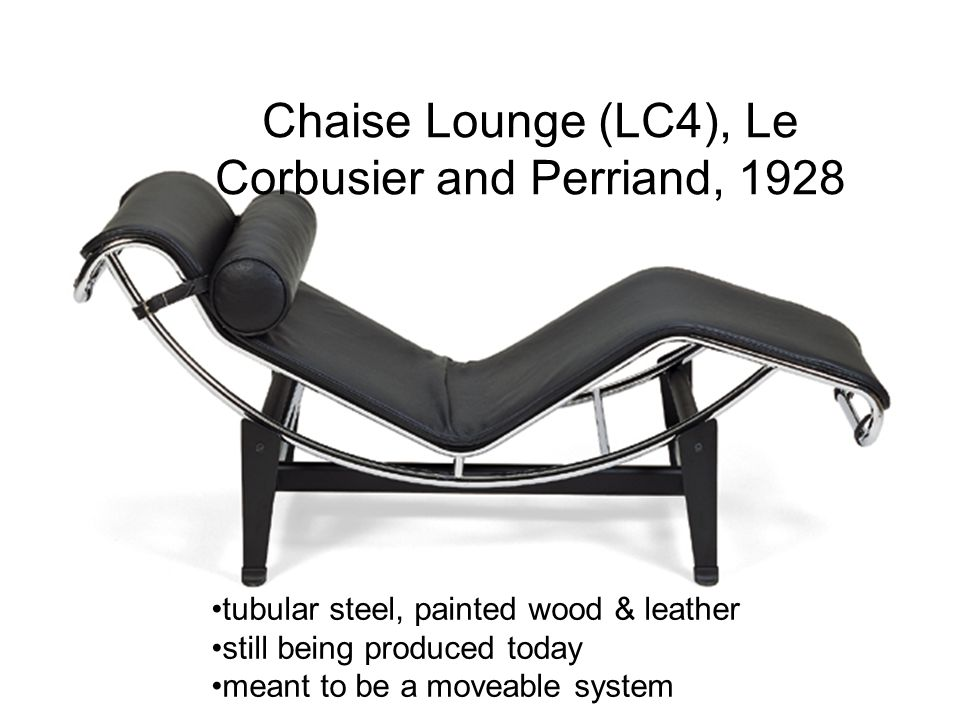 Chaise Lounge (LC4), Le Corbusier and Perriand, 1928