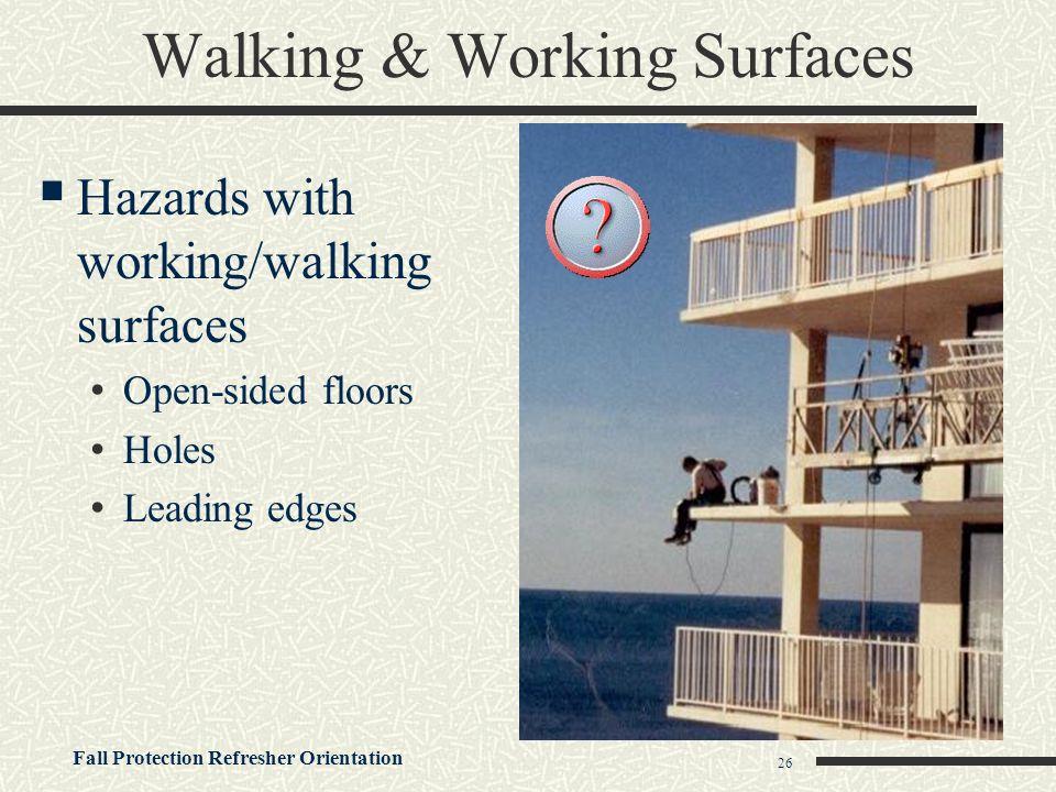 Walking & Working Surfaces