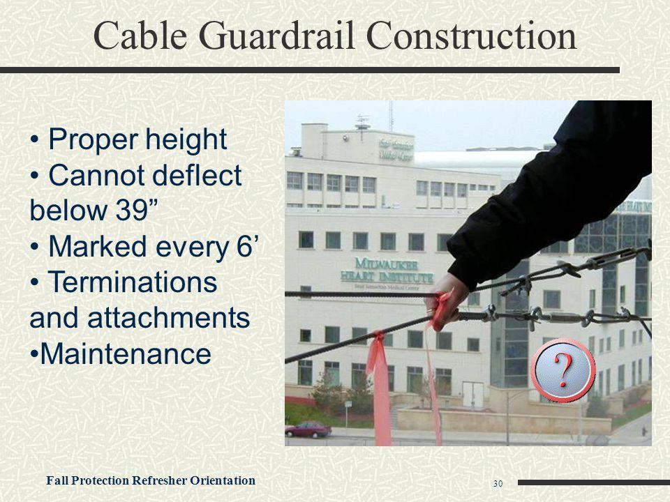 Cable Guardrail Construction