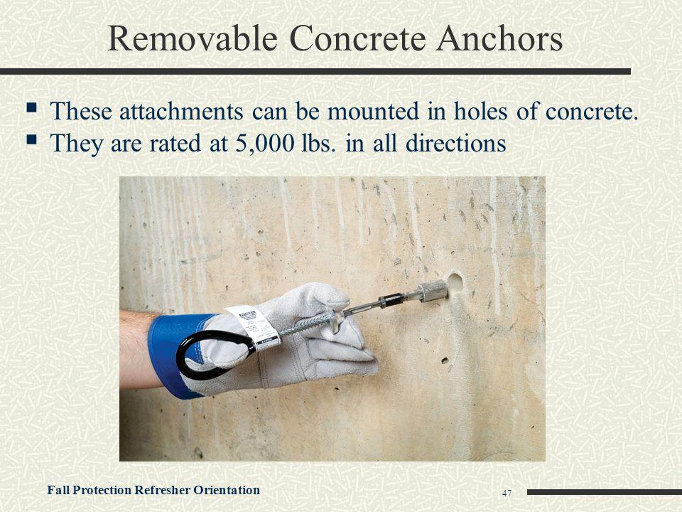 Removable Concrete Anchors