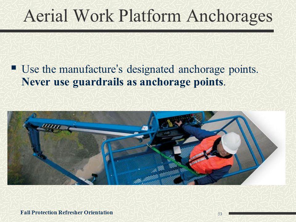 Aerial Work Platform Anchorages