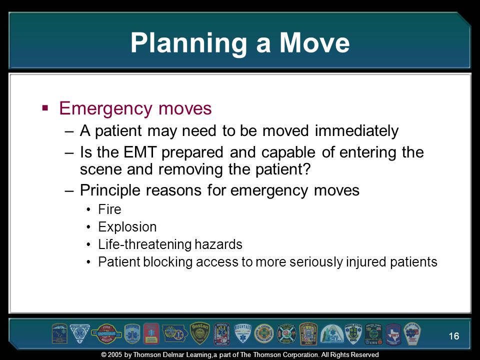 Planning a Move Emergency moves