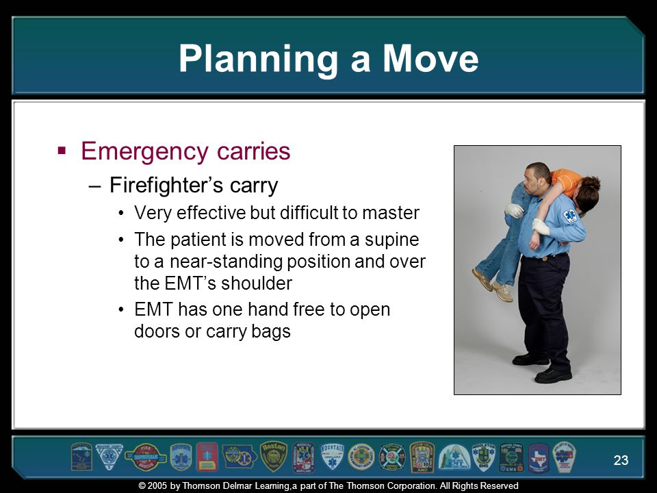 Planning a Move Emergency carries Firefighter's carry