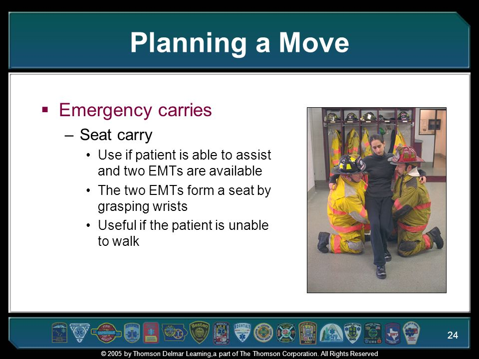 Planning a Move Emergency carries Seat carry