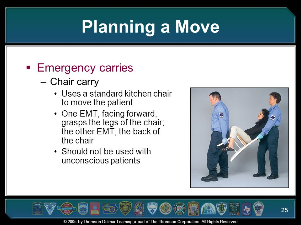 Planning a Move Emergency carries Chair carry