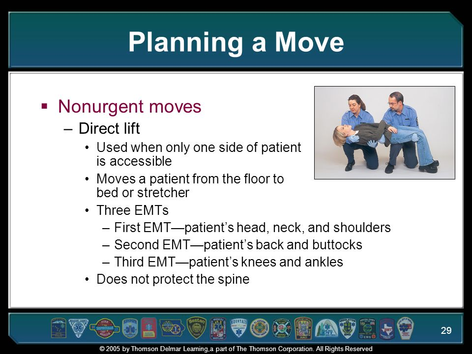 Planning a Move Nonurgent moves Direct lift