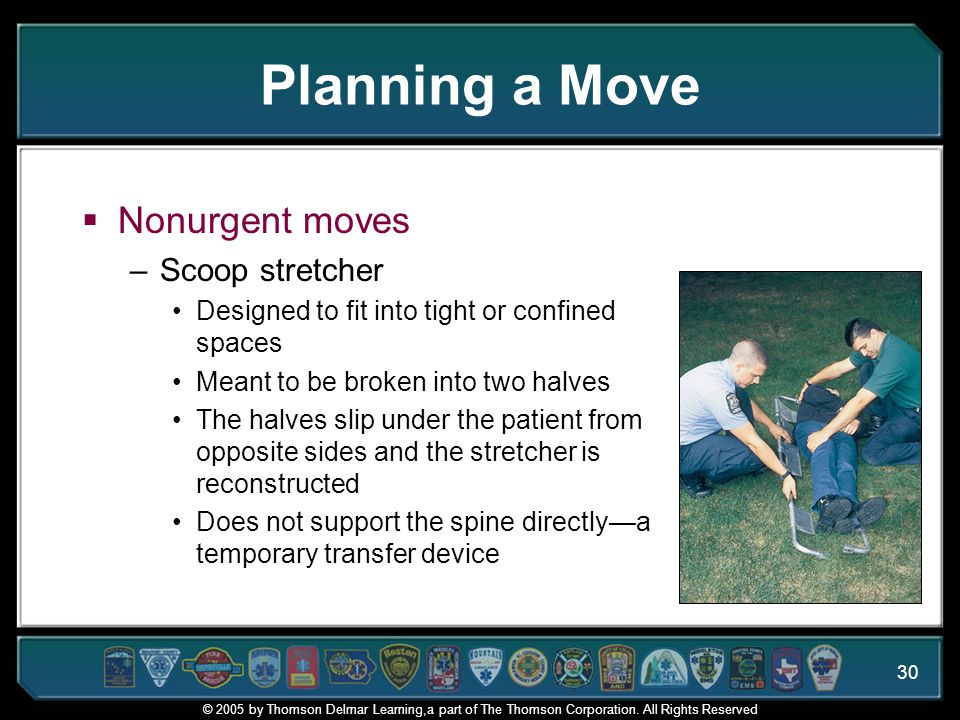 Planning a Move Nonurgent moves Scoop stretcher