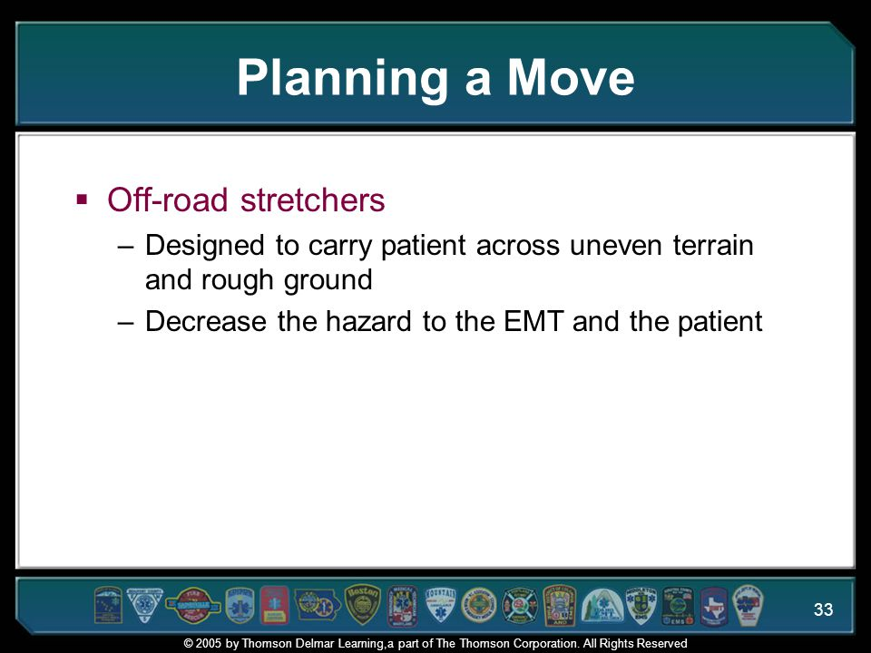 Planning a Move Off-road stretchers