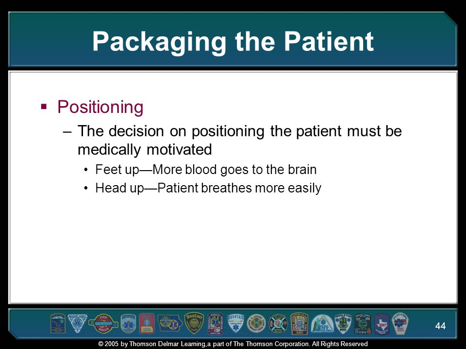 Packaging the Patient Positioning