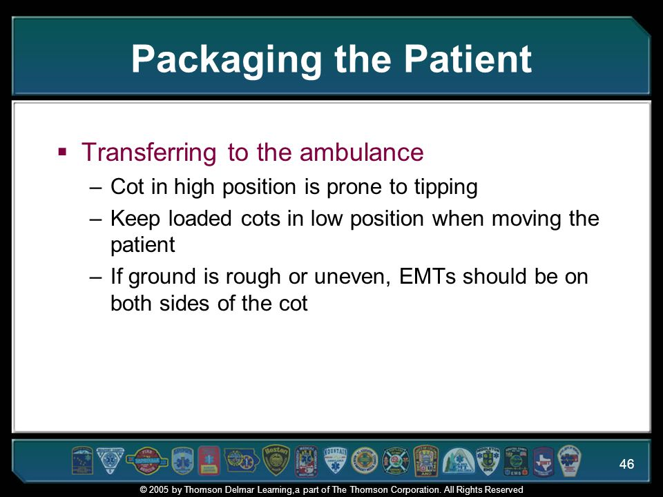 Packaging the Patient Transferring to the ambulance