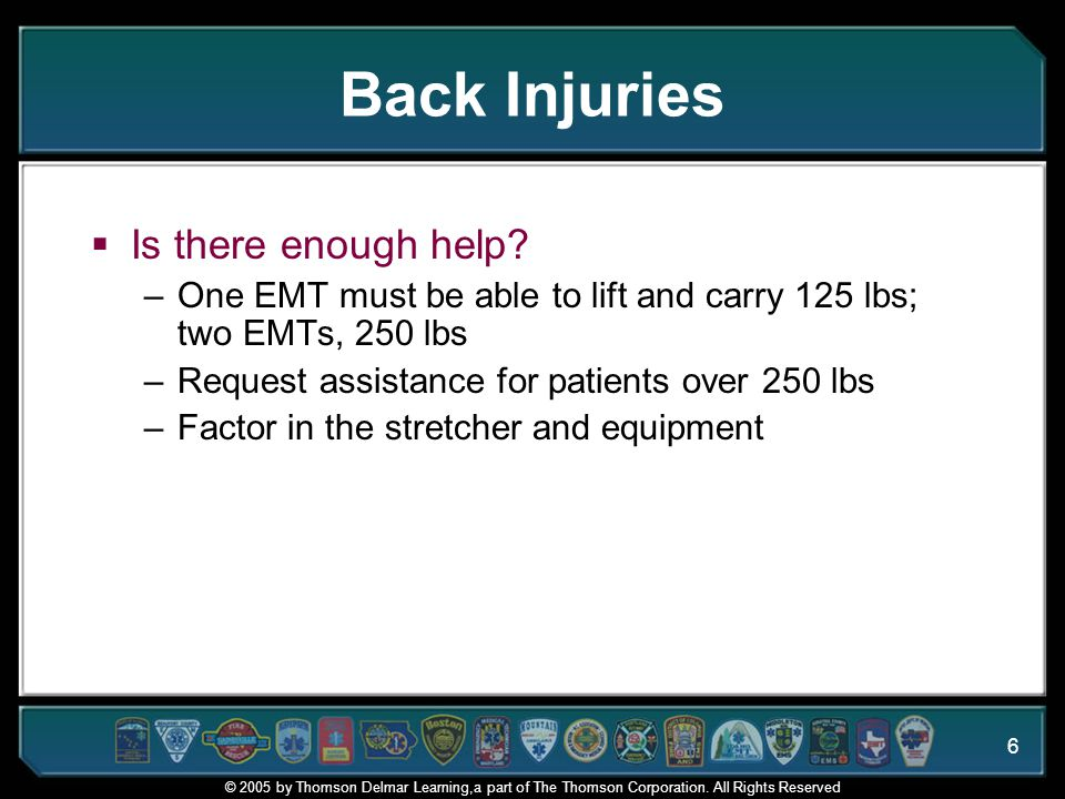 Back Injuries Is there enough help