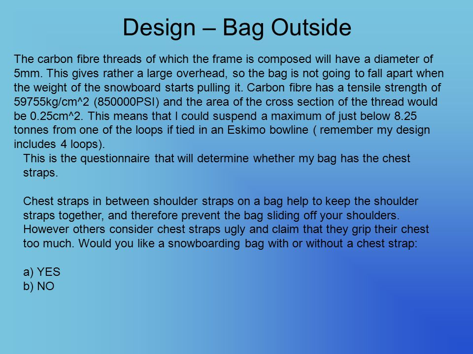 Design – Bag Outside