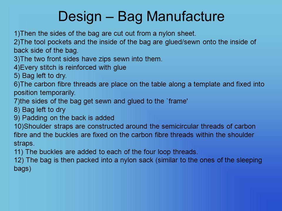 Design – Bag Manufacture