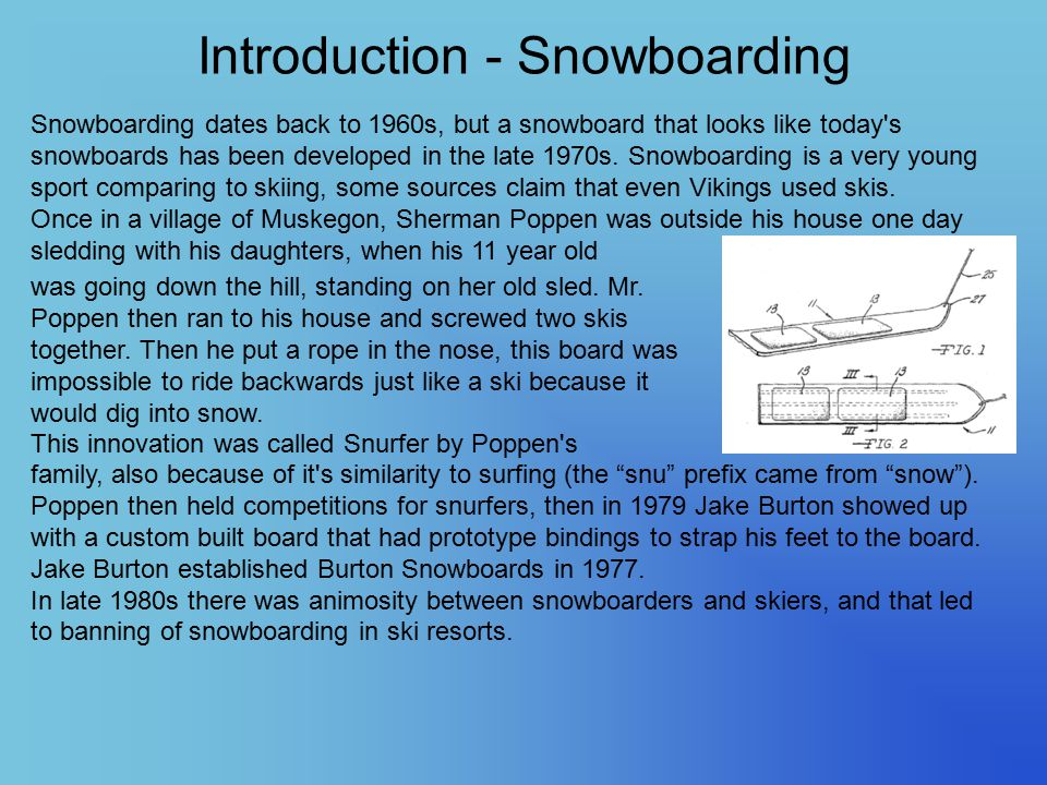 Introduction - Snowboarding