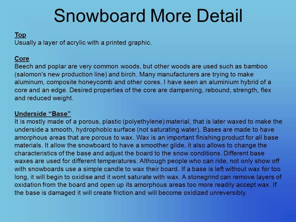 Snowboard More Detail Top