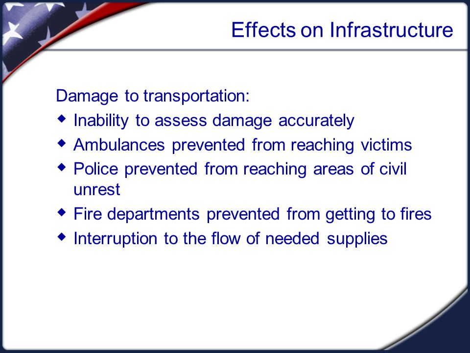 Effects on Infrastructure