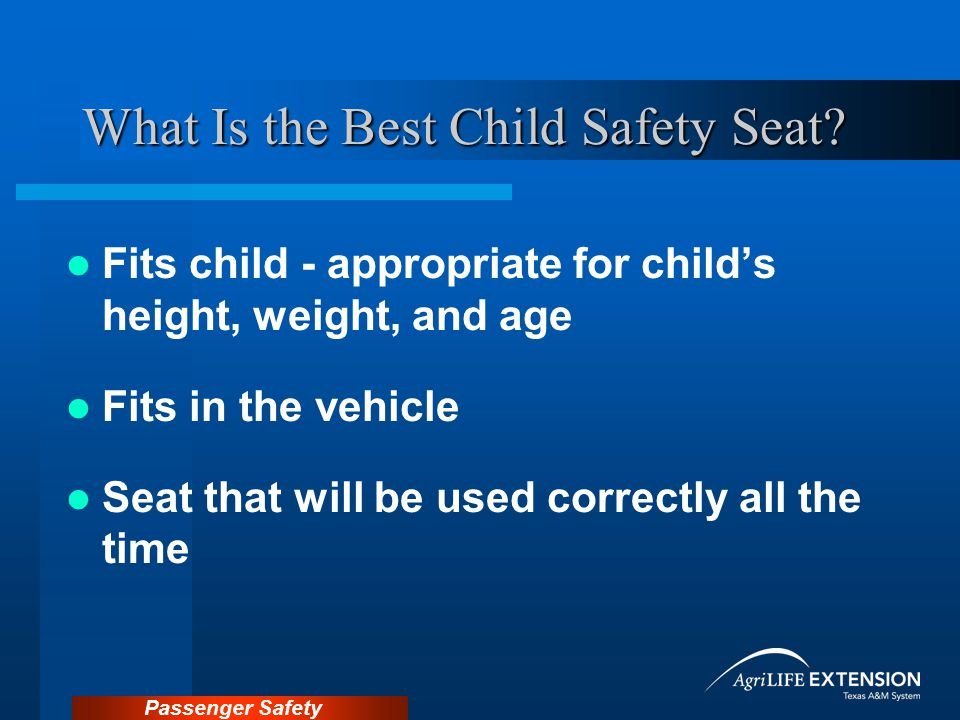 What Is the Best Child Safety Seat
