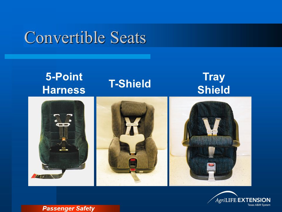 Convertible Seats 5-Point Harness Tray Shield T-Shield