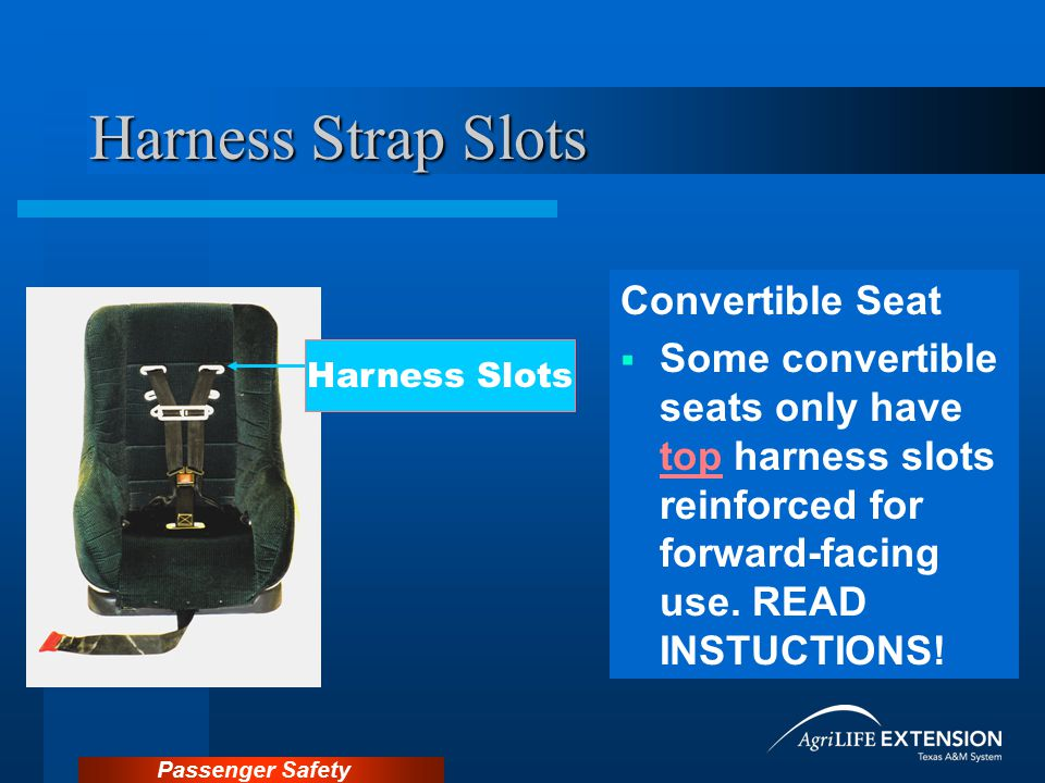 Harness Strap Slots Convertible Seat