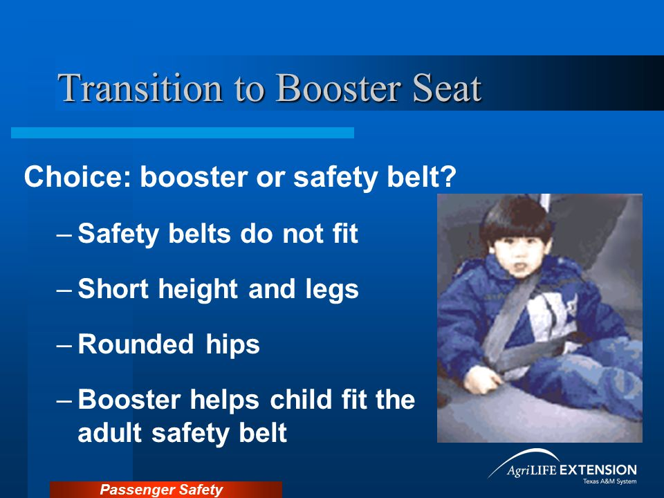Transition to Booster Seat