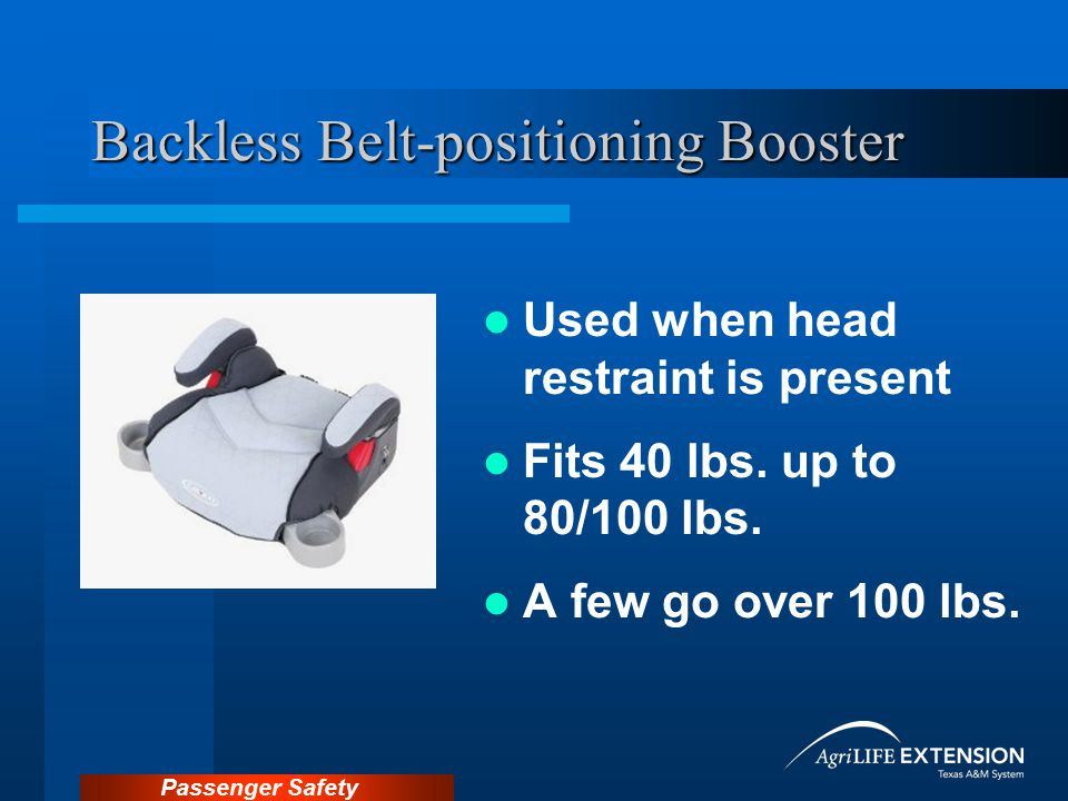 Backless Belt-positioning Booster