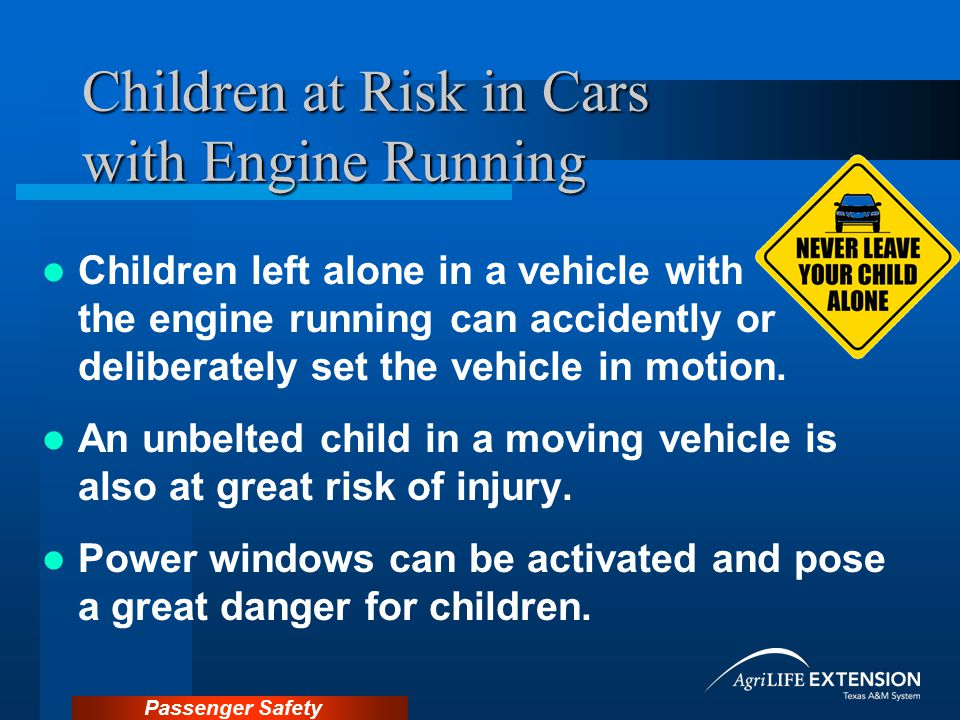 Children at Risk in Cars with Engine Running